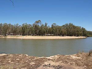 Cobram - Thompson's Beach, as viewed from New South Wales.