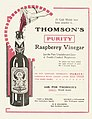 "Thomson and Company (Dunedin) -Thomson's ""Purity"" raspberry vinegar. (ca 1910) (21637565326).jpg"
