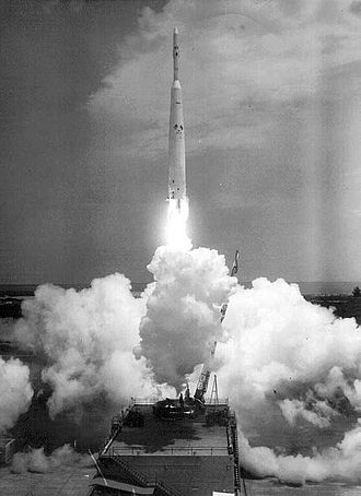 Ariel 1 - Launch of Ariel 1 on a Thor-Delta rocket