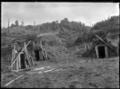 Three food storage pits for storing kumara, at Ruatahuna, 1930. ATLIB 298988.png