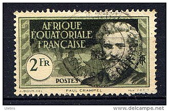 French Equatorial Africa - A 1937 stamp of French Equatorial Africa depicting Paul Crampel.
