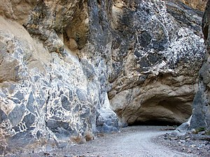 Breccia - Megabreccia (left) at Titus Canyon Narrows, Death Valley National Park, California