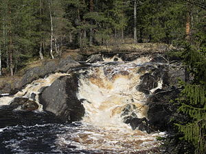Ruskeala - A waterfall