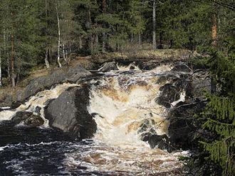 Ruskeala - A waterfall