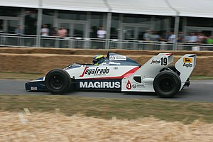 Phil Quaife - Quaife demonstrating a Toleman TG183B at the 2010 Goodwood Festival of Speed.