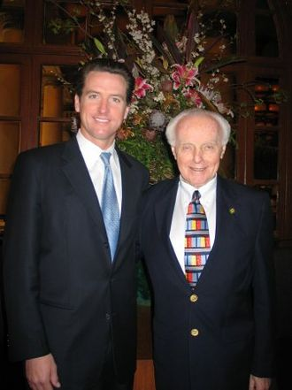 Tom Lantos - San Francisco Mayor Gavin Newsom and Lantos