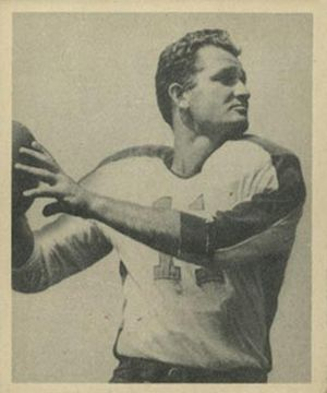 Tommy Thompson (quarterback) - Thompson on a 1948 Bowman football card