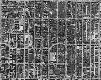Moss Park - Image: Toronto Garden District Aerial 1942