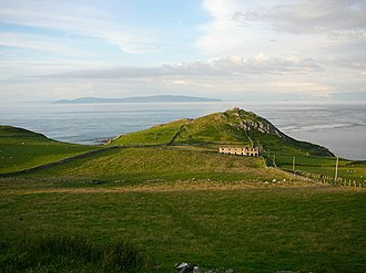 Straits of Moyle - View from Torr Head, County Antrim to the Mull of Kintyre, looking over the Straits of Moyle.