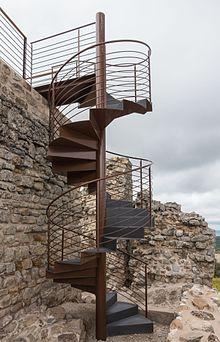 Escalera de caracol wikipedia la enciclopedia libre for Como hacer una escalera caracol metalica