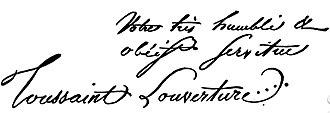 Toussaint Louverture - Toussaint Louverture's signature