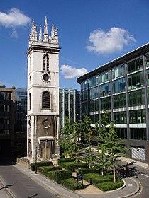 Tower of St Mary Somerset, Upper Thames Street - geograph.org.uk - 54510.jpg