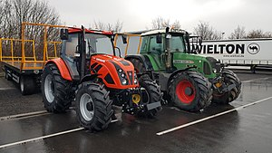 Tractor - Modern tractors in customized varnishing, Ursus 11054 and Fendt 820.