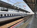 Train of Sanyo Shinkansen for Hakata Station at Kokura Station.jpg