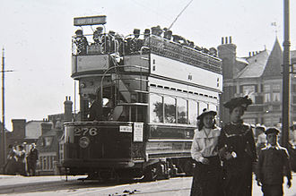 Teddington - Tram at Teddington in about 1905