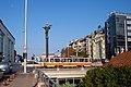 Tram in Sofia near Sofia statue 2012 PD 024.jpg