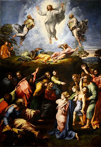 Assumption of the Virgin (Titian) - Transfiguration by Raphael, 1517-20, with which Titian's painting is often compared.
