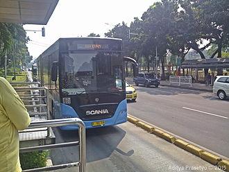 Scania K-series - TransJakarta Gemilang Coachworks bodied Scania K340IA