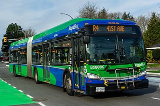 R4 41st Ave Express bus service in Metro Vancouver, Canada