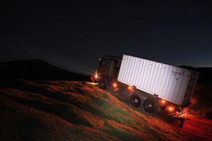 Transport Corps (Ireland) - Irish Army Transport Corps logistics lift at night
