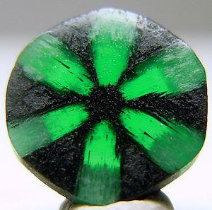 Emerald - A Colombian trapiche emerald