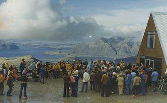 Treble Cone - The first base lodge at Treble Cone (cira 1976)