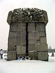 Memorial at Treblinka, 2005. The largest stone representing Warsaw.