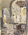 Treslon, Church Interior, 1918 Art.IWMART3433.jpg