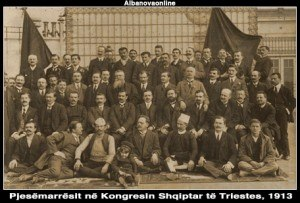 Albanian Declaration of Independence - Rare photo of the participants of the Congress of Trieste in 1913