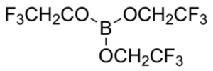 Tris(2,2,2-trifluoroethyl) borate - Image: Tris(2,2,2 trifluoroethyl) borate