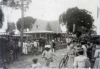 Lawa Railway - Inauguration of the railway at Vaillantsplein station in 1905