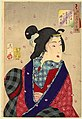 Tsukioka Yoshitoshi - Looking eager to meet someone - the appearance of a courtesan of the Kaei period.jpg