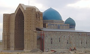 Mausoleum of Khoja Ahmed Yasawi - The dome of Khoja Ahmed Yasawi's mausoleum is the largest in Central Asia.