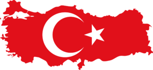 English: Maps of Turkey with flag integrate Fr...