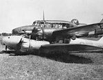 Avro Ansons, having landed after collision