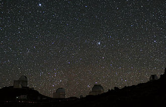 CoRoT - Two Planet-hunters Snapped at La Silla Observatory.