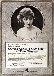 <i>Two Weeks</i> (1920 film) 1920 film by Sidney Franklin
