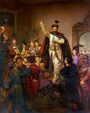 Confederation (Poland) - The swearing in of the Tyszowce Confederation in 1655, painting by Walery Eljasz-Radzikowski.