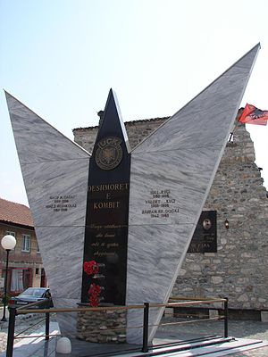 Kosovo Liberation Army - UÇK monument in Deçan