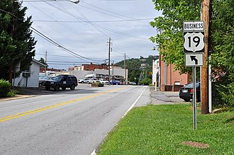 Special routes of U.S. Route 19 - US 19 Business in Weaverville