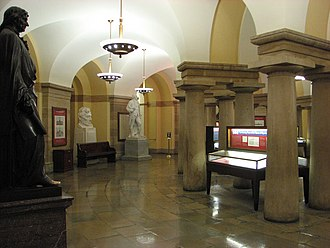 United States Capitol crypt - The crypt in 2007, looking southwest from south entrance.