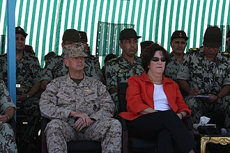 Abdel Fattah el-Sisi - US-Egypt Bright Star exercise in 2009. Sisi was sitting on the left back seat.
