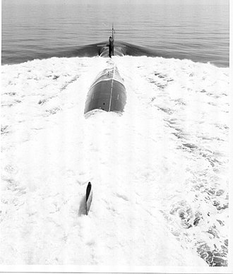 USS Baton Rouge (SSN-689) - USS Baton Rouge during sea trials 1977