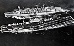 USS Camden (AOE-2) replenishes USS Ticonderoga (CVS-14) during the recovery of Apollo 17, in December 1972.jpg
