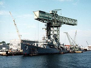 Norfolk Naval Shipyard - The 350-ton hammerhead crane at Norfolk Naval Shipyard