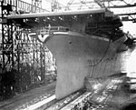 USS Philippine Sea (CV-47) launched at Fore River Shipyard 1945.jpg