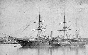 USS Saranac (1848) - Saranac in port in the 1870s