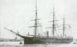 USS Trenton (1876) - USS Trenton with the Asiatic Squadron.