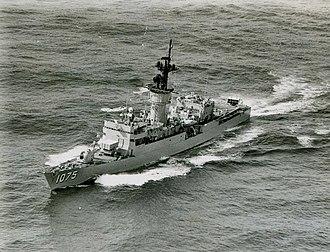 USS Trippe (FF-1075) - Image: USS Trippe (FF 1075)