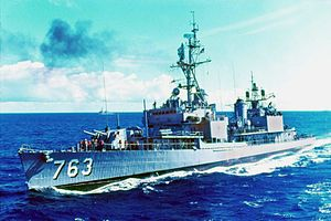USS William C. Lawe (DD-763) in 1967.